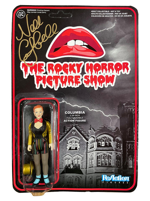 Rocky Horror Columbia Reaction Action Figure Signed By Nell Campbell
