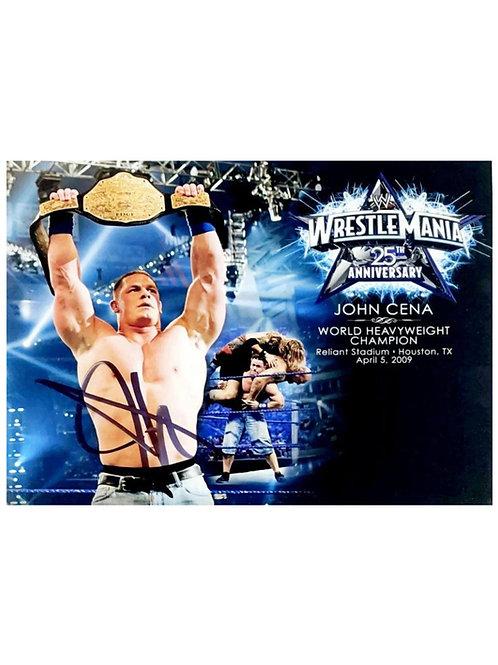 "Official WWE 14x12"" Plaque Signed by Wrestling Superstar John Cena"