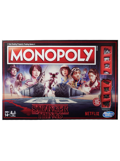 Stranger Things Monopoly Game Signed By Caleb & Gaten