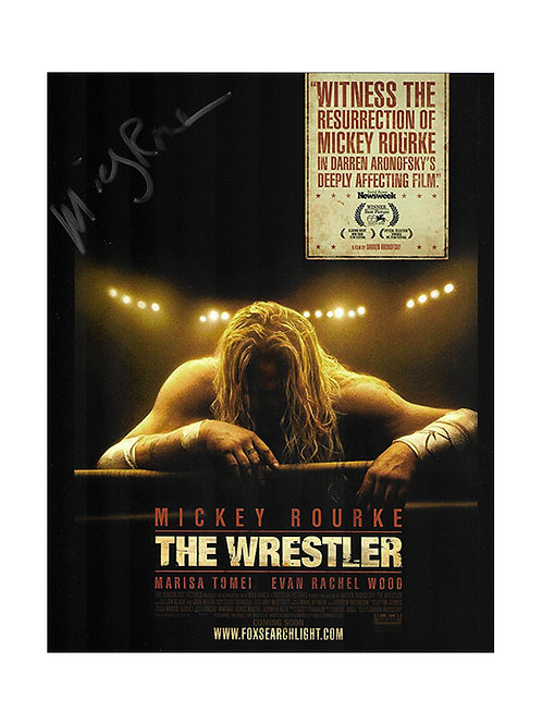 8x10 The Wrestler Print Signed by Mickey Rourke