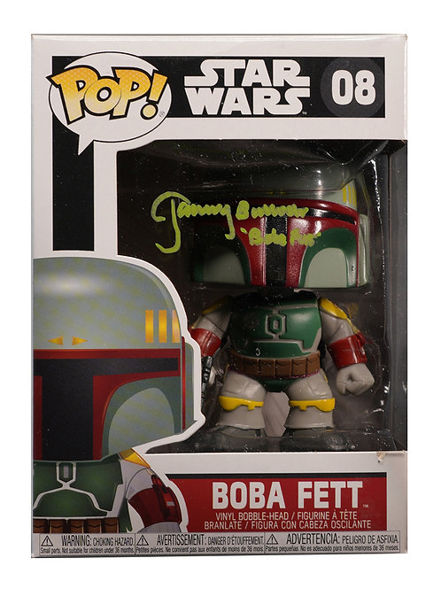 Boba Fett Funko Pop Signed by Jeremy Bulloch