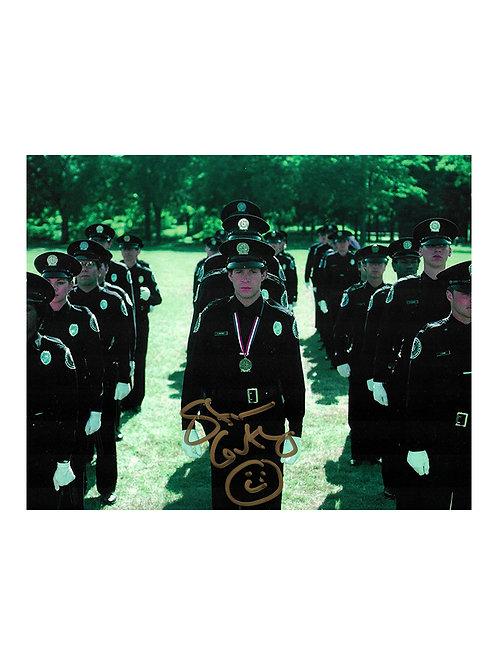 10x8 Police Academy Print Signed by Steve Guttenberg