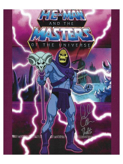 8x10 He-Man Skeletor Print Signed by Alan Oppenheimer
