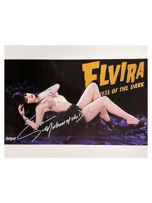 16x12 Elvira Print Signed by Cassandra Peterson