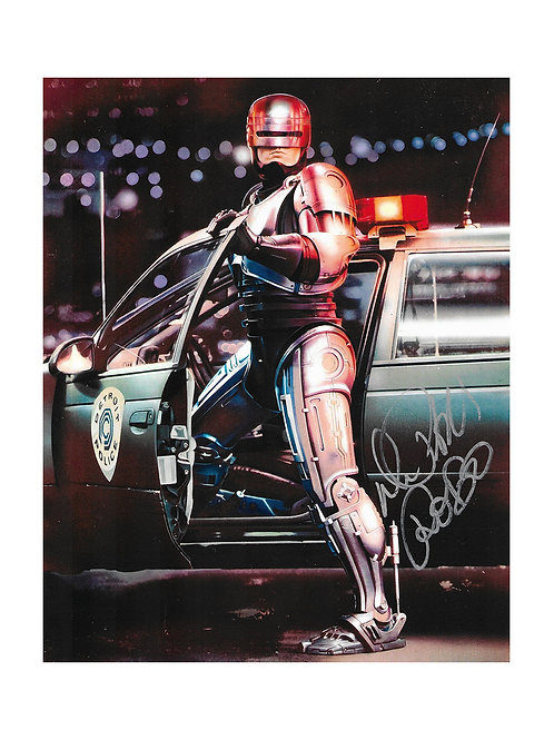8x10 Robocop Print Signed by Peter Weller