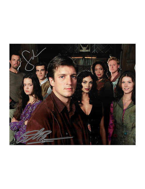 10x8 Firefly Print Signed by Sean Maher & Adam Baldwin