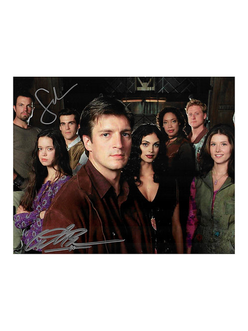 10x8 Firefly Print Signed by Sean Maher and Adam Baldwin