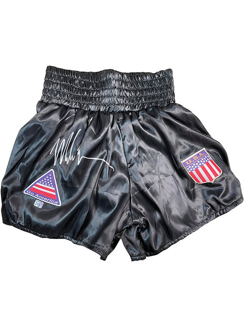Boxing Shorts Signed By Mike Tyson