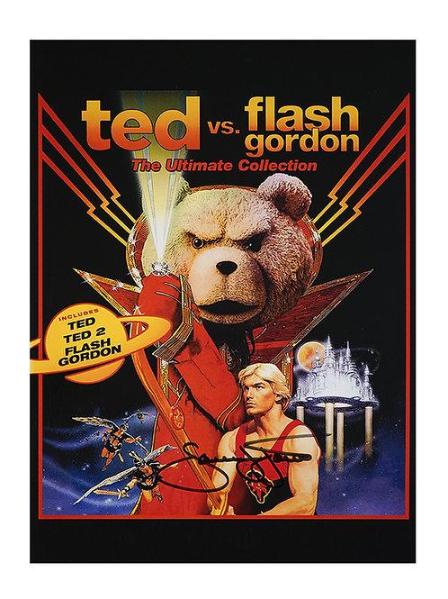 12x16 Ted vs Flash Gordon Print Signed by Sam J Jones