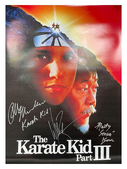 A2 Karate Kid III Poster Signed by Ralph Macchio, William Zabka & Martin Kove