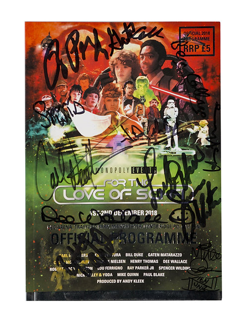 For The Love Of Sci-Fi 2018 Programme Signed By All Guests