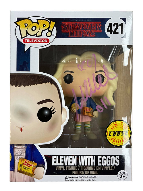 Stranger Things #421 Chase Edition Eleven Funko Pop Signed by Millie Bobby Brown