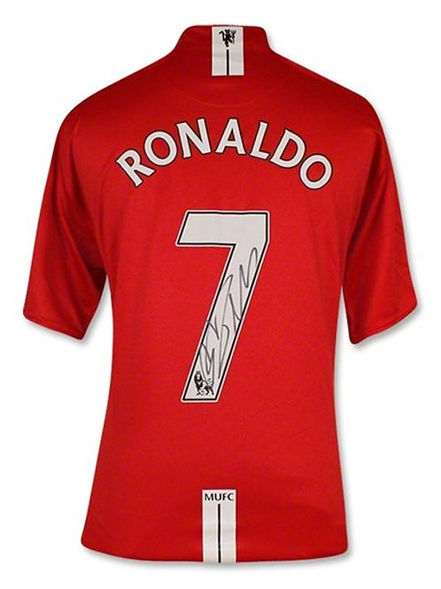 Manchester United Shirt Signed By Cristiano Ronaldo