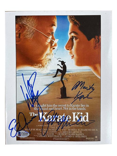 8x10 Karate Kid Print Signed by Macchio, Shue, Zabka & Kove
