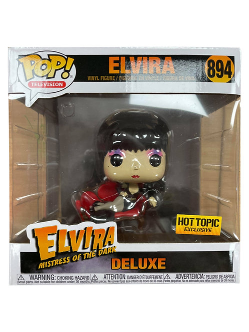 Hot Topic Large Elvira Funko Pop Signed on Side by Cassandra Peterson
