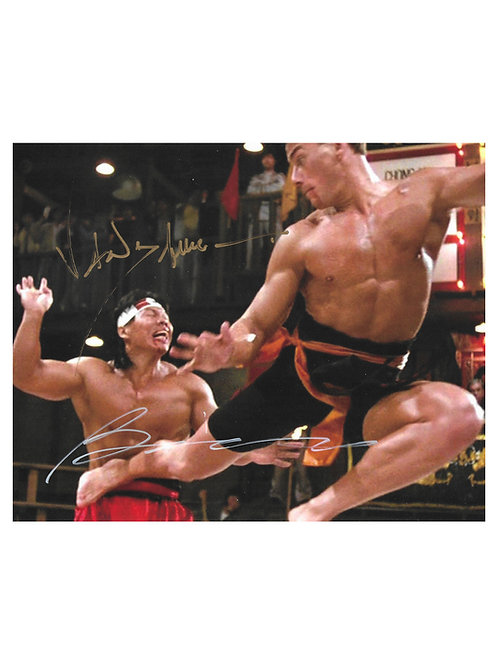 10x8 Bloodsport Print Signed in Gold by JCVD & Bolo Yeung