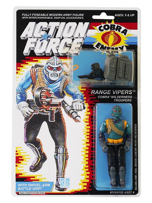 Action Force GI Joe Range Vipers Cobra Wilderness Troopers MOC Carded Custom