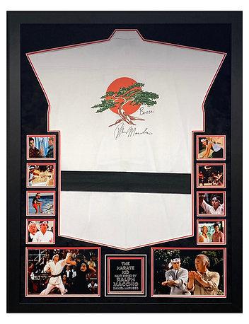 Framed Karate Kid Full Karate Gi Signed by Ralph Macchio