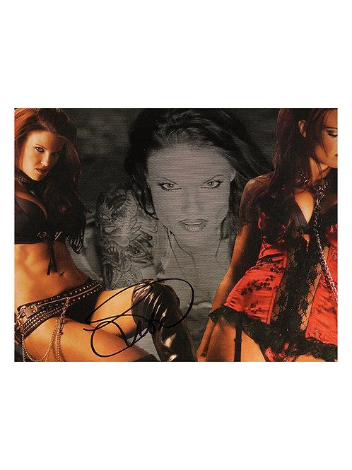 10x8 Print Signed by Wrestling Superstar Lita