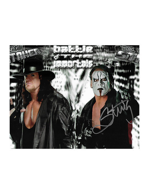 10x8 Print Signed by Wrestling Superstar Sting
