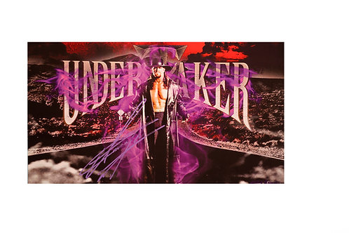 16x9 Print Signed by Wrestling Superstar Mark Calaway aka The Undertake