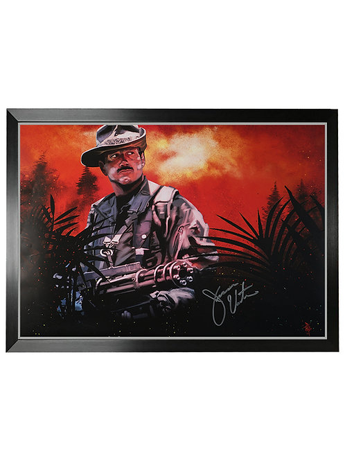 Framed A2 Predator Blaine Illustrated Poster Signed By Jesse Ventura