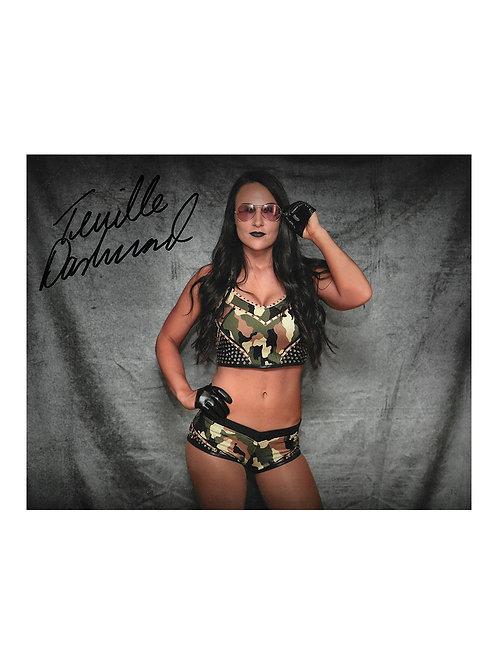 10x8 Print Signed by Wrestling Superstar Tenille Dashwood - Emma