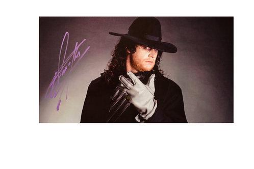 16x9 Print Signed by Wrestling Superstar Mark Calaway aka The Undertake