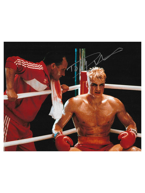 10x8 Ivan Drago Rocky Print Signed by Dolph Lundgren