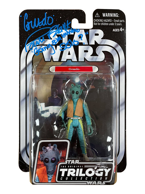 Star Wars Trilogy Collection Greedo Action Figure Signed By Paul Blake