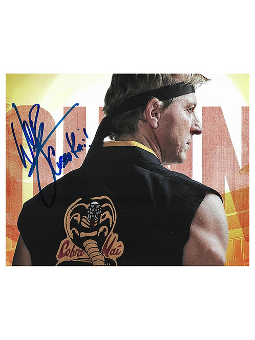 10x8 Cobra Kai Print Signed by William Zabka