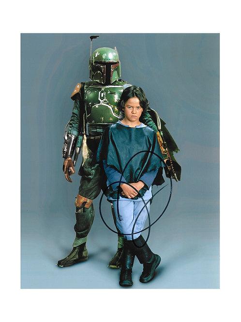 8x10 Star Wars Boba Fett Print Signed by Daniel Logan
