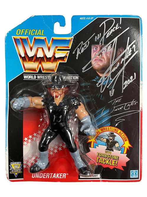 Vintage WWF Action Figure Signed by Wrestling Superstar The Un