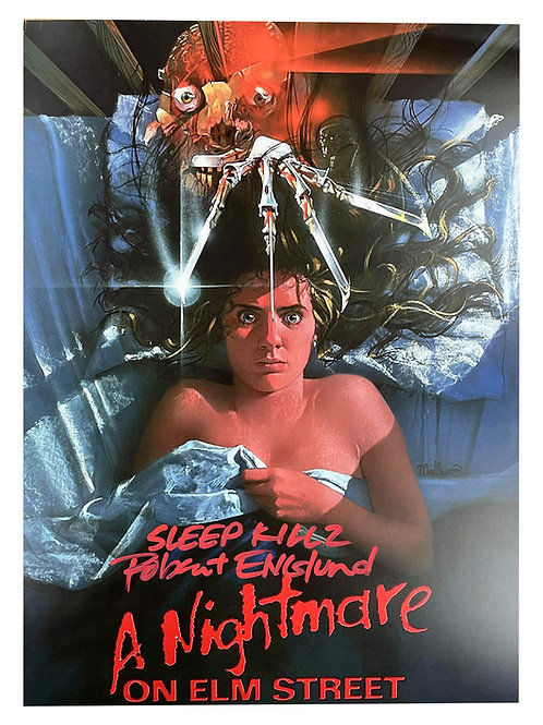 A3 Nightmare on Elm Street Poster With Various Quotes Signed by Robert Englund