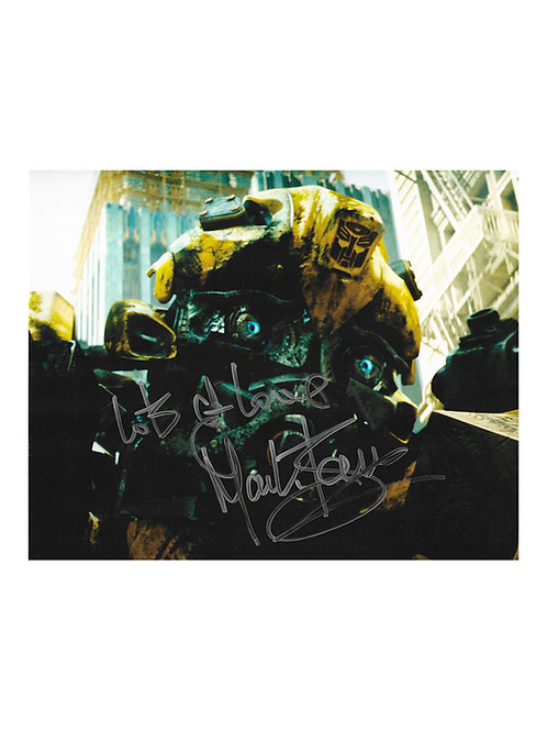 10x8 Transformers Bumblebee Print Signed by Mark Ryan