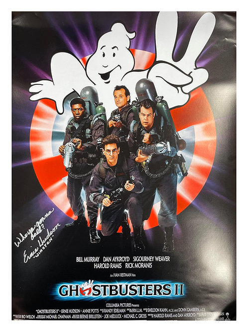 A2 Ghostbusters 2 Quoted Poster Signed by Ernie Hudson
