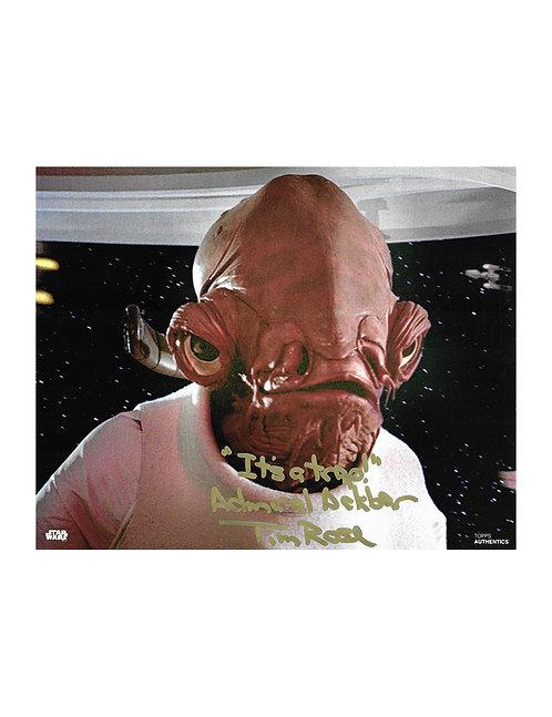 10x8 Star Wars Admiral Ackbar Print Signed byTim Rose