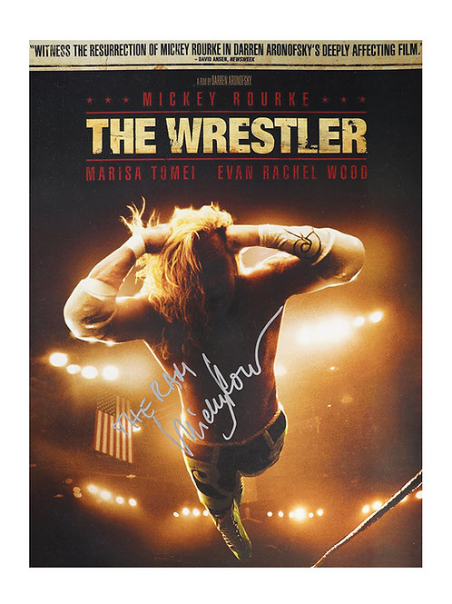 12x16 The Wrestler Print Signed by Mickey Rourke