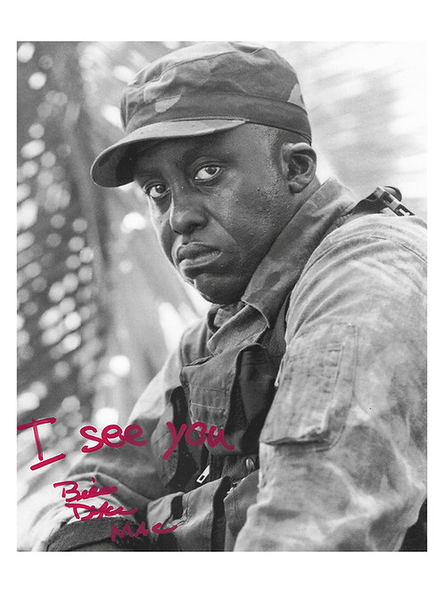 8x10 Predator Print With I See You Quote Signed by Bill Duke