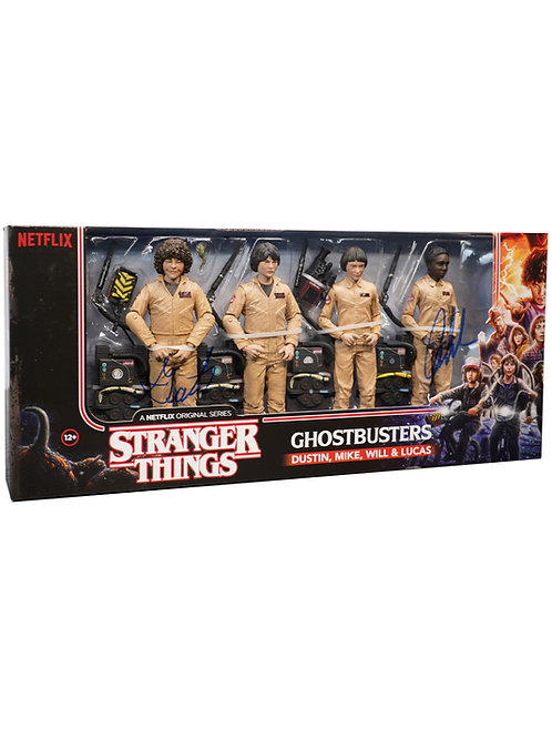 Stranger Things Ghostbusters Figure Set Signed By Caleb & Gaten