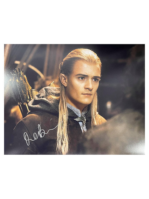 20x16 Lord of the Rings Legolas Print Signed by Orlando Bloom