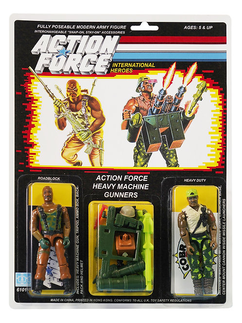 Action Force / GI Joe Heavy Machine Gunners Heavy Duty & Roadblock MOC Custom
