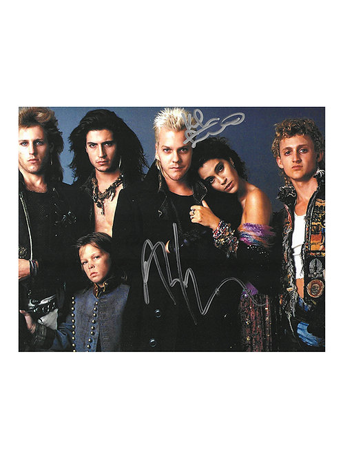 10x8 The Lost Boys Print Signed by Kiefer Sutherland & Alex Winter
