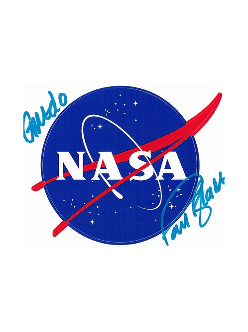 NASA Decal Sticker Signed By Paul Blake