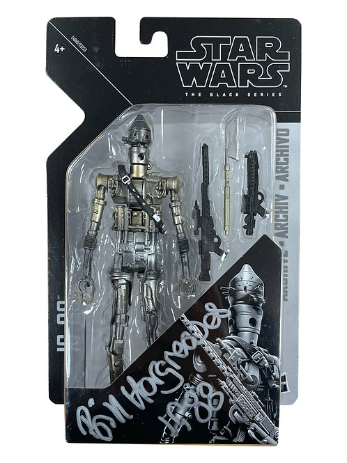 Star Wars IG-88 Black Series Figure Signed By Bill Hargreaves