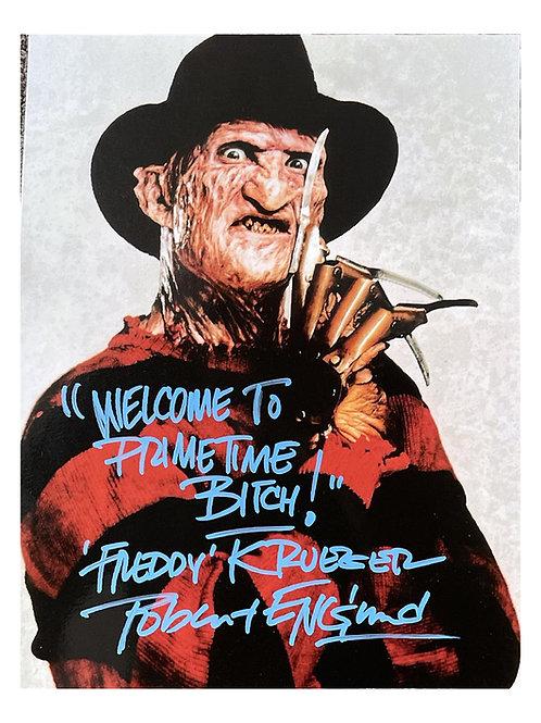8x10 Freddy Krueger Primetime Print Signed by Robert Englund