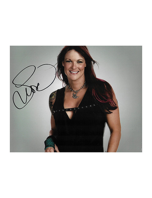 10x8 Print Signed by Wrestling Superstar Lita