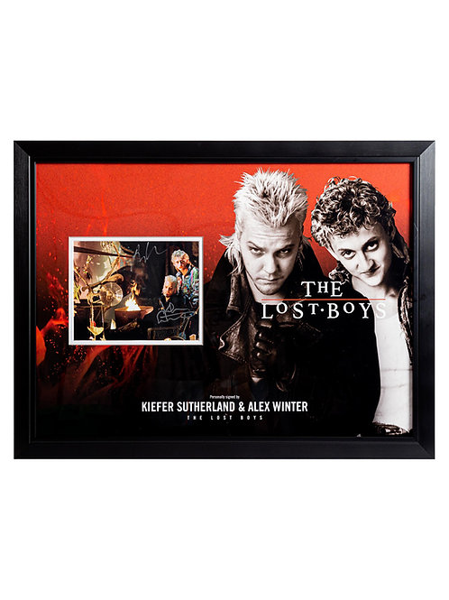 Lost Boys Framed Print Signed by Kiefer Sutherland and Alex Winter