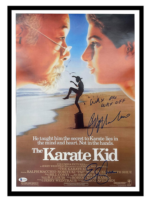 A2 Karate Kid Poster Signed by Ralph Macchio & Elizabeth Shue