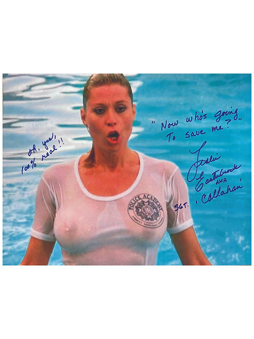16x12 Quoted Police Academy Print Signed by Leslie Easterbrook